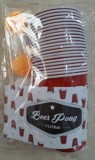 Bộ 22 ly + 6 banh ping pong -  Beer pong kit 22 pack  Red Solo cups