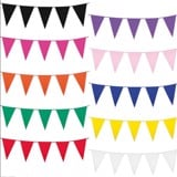 Dây cờ treo tam giác 1 màu - solid color flag bunting