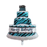 Blue birthday cake foil Balloon