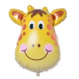 Giraffe face foil balloon