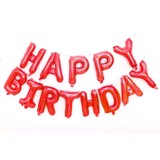 Happy Birthday red foil balloon set
