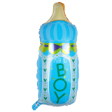 Boy milk bottle foil balloon