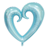 Curly heart foil balloon 70cm