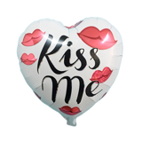 Kiss me foil balloon