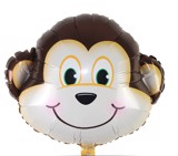 Monkey face foil balloon