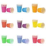 Polkadot paper cups 5/pack