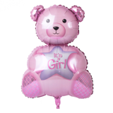 Bear foil balloon girl