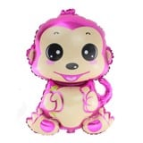 Pink monkey with flower foil balloon