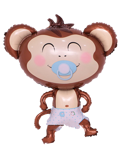 Monkey foil balloon for baby boy