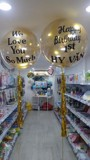 Transparent wishes balloons