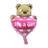 It a girl teddy bear foil balloon