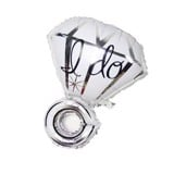 ''I DO'' diamond ring balloon
