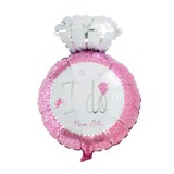 ''I DO'' pink ring balloon