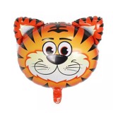 Tiger face foil balloon