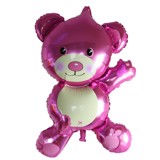 Pink bear foil balloon