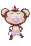Monkey foil balloon for baby girl