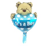 It a boy teddy bear foil balloon