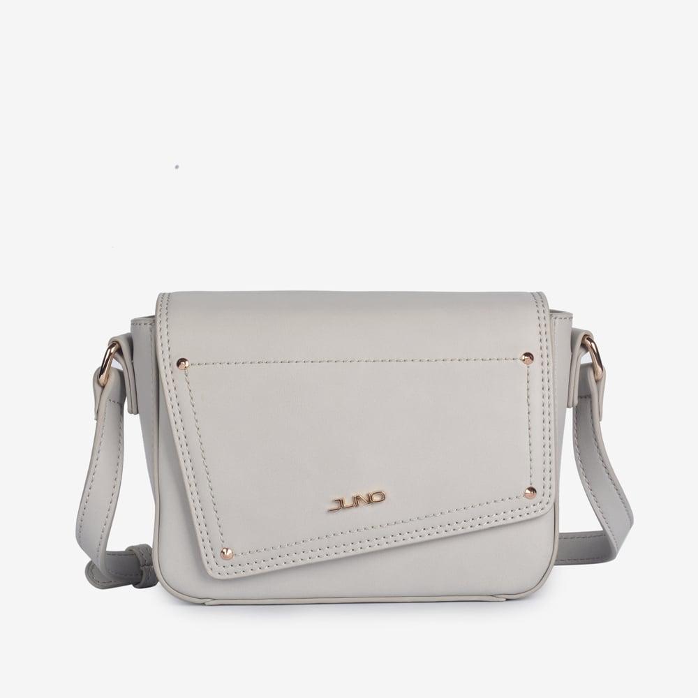 Túi đeo chéo Juno nắp túi cắt xéo cách điệu TXN082