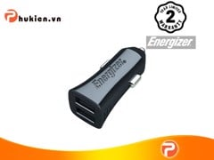 ENERGIZER UL CAR CHARGER ADAPTOR 4.8A 2USB BLACK