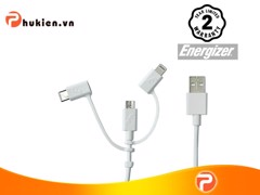 Lightning/Micro USB/Type C 3 in 1 Cable 1m, PVC White