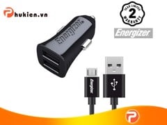 ENERGIZER UL CAR CHARGER MICRO-USB 3.4A 2USB BLACK