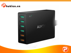 Sạc Aukey 6 cổng PA-T11 ( 2 Cổng  Quick Charge 3.0)