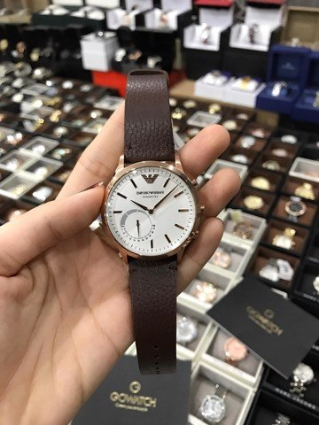 Emporio Armani Smart Watch ART3002 Rose Gold and Brown Leather