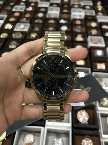 ARMANI EXCHANGE AX2122 Smart Gold Black Dial Chrono 46MM