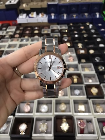 Burberry City White Dial Rose Gold Bezel 38mm Watch BU9006