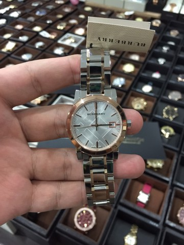 Burberry City Swiss Made Rose Gold Stainless Steel Watch BU9105