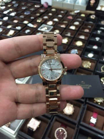 Burberry City BU9204 Women's Stainless Rose Gold Sİlver Dial Accent Watch