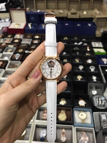 TISSOT Lady Heart Powermatic 80 White Mother of Pearl Dial White Leather Ladies Watch  T0502073701704