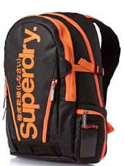 Superdry Super Pop Tarp Backpack Black/orange