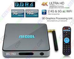 Android TV Box Mecool BB2 Pro 3GB Ram DDR4
