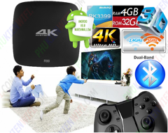 Android TV Box R99 4K - RAM 4GB Rockchip RK3399