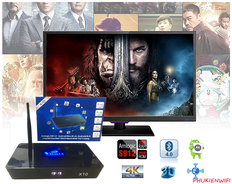 Android TV Vinabox X10 Amlogic S912 Octa-Core