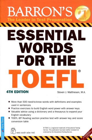 Essential Words For The TOEFL (4th Edition)