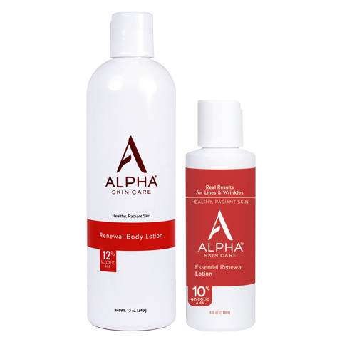 <p>Combo AHA lotion cho mặt và body - Combo 10% AHA  Enhanced Lotion + 12% AHA Renewal Body Lotion