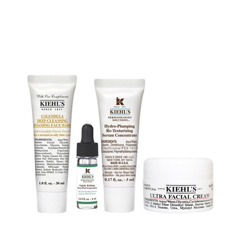 <p>Mini Combo Kiehl's For All Type Skin At Night - Bộ chăm sóc da ban đêm mini size - KIEHL'S