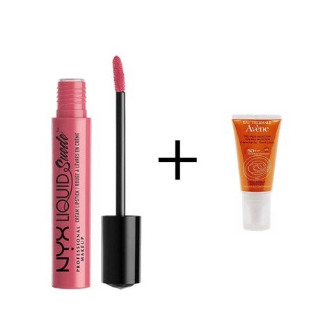 <p>NYX Liquid Suede Cream Lipstick Tea & Cookie và Kem chống nắng Avene - Combo LQD SUEDE CREAM LPSTK NYX- TEA & COOKIE + Avene 5ml