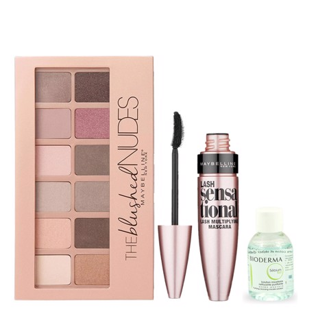 <p>COMBO The Blushed Nude - Bộ trang điểm mắt Maybelline