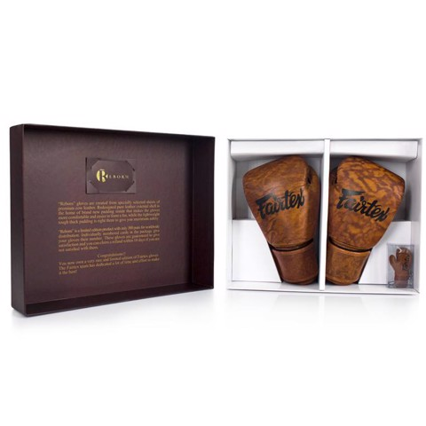 GĂNG TAY FAIRTEX 'REBORN' VINTAGE MUAY THAI & BOXING GLOVES
