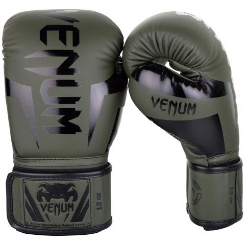 GĂNG TAY VENUM ELITE BOXING GLOVES - KHAKI/BLACK