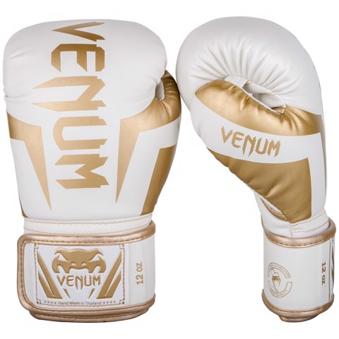 GĂNG TAY VENUM ELITE BOXING GLOVES - WHITE/GOLD