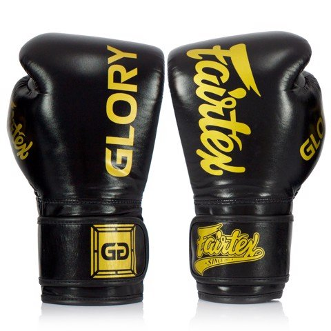 GĂNG TAY FAIRTEX BGLG1 x GLORY VELCRO BOXING GLOVES - BLACK