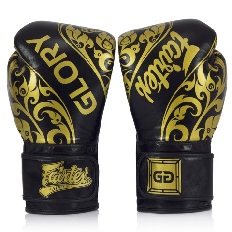 GĂNG TAY FAIRTEX BGLG2 BANGPLEE VELCRO BOXING GLOVES - BLACK