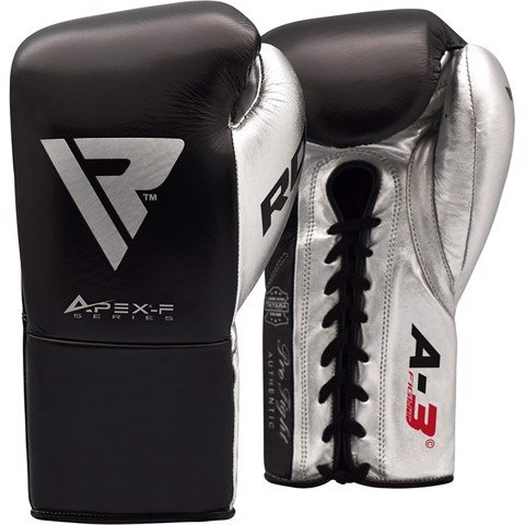 GĂNG TAY RDX LEATHER PRO FA3 BOXING GLOVES - BLACK