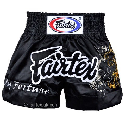 QUẦN FAIRTEX MY FORTUNE BLACK MUAY THAI SHORT