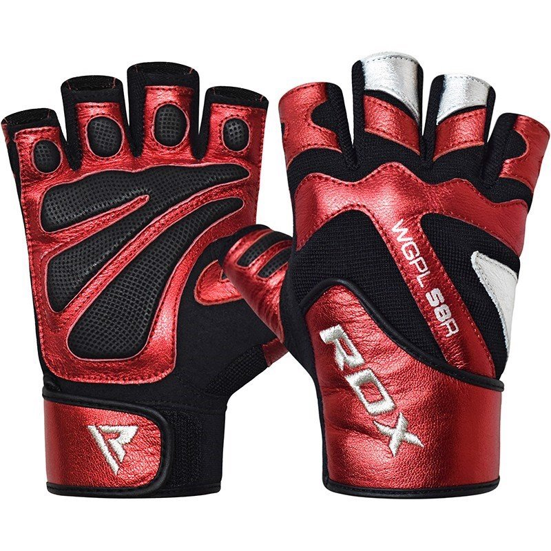 GĂNG TAY RDX LEATHER WEIGHT LIFTING GYM GLOVES