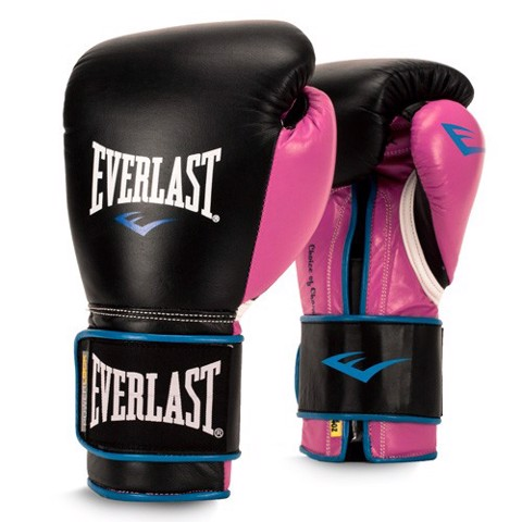 GĂNG TAY BOXING WOMEN'S POWERLOCK HOOK & LOOP TRAINING GLOVES - BLACK/PINK